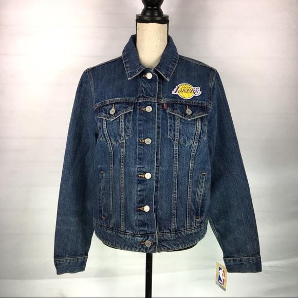 d17d0305f1421 Levis Los Angeles Lakers Trucker Denim Jacket